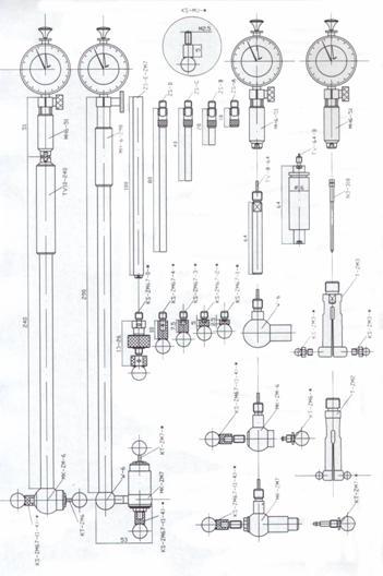 内径表式内齿棒间距量仪适用于分度圆直径26.1mm—330mm范围内的内齿或内花键测量